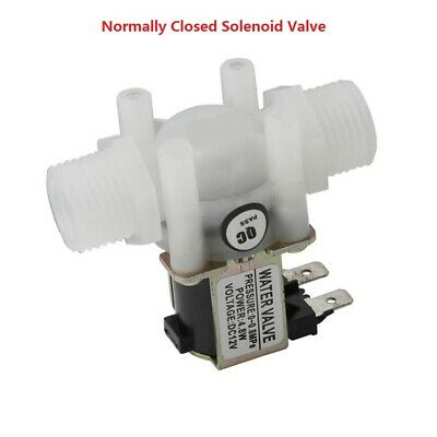 Plastic Electrical Inlet Solenoid Water Valve for Water Dispense 12V G1//2 NC Solenoid Valve