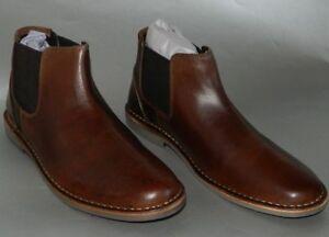 2120c65903e Steve Madden Men's Impass Chelsea Mid Boot Leather Slip On Shoes ...