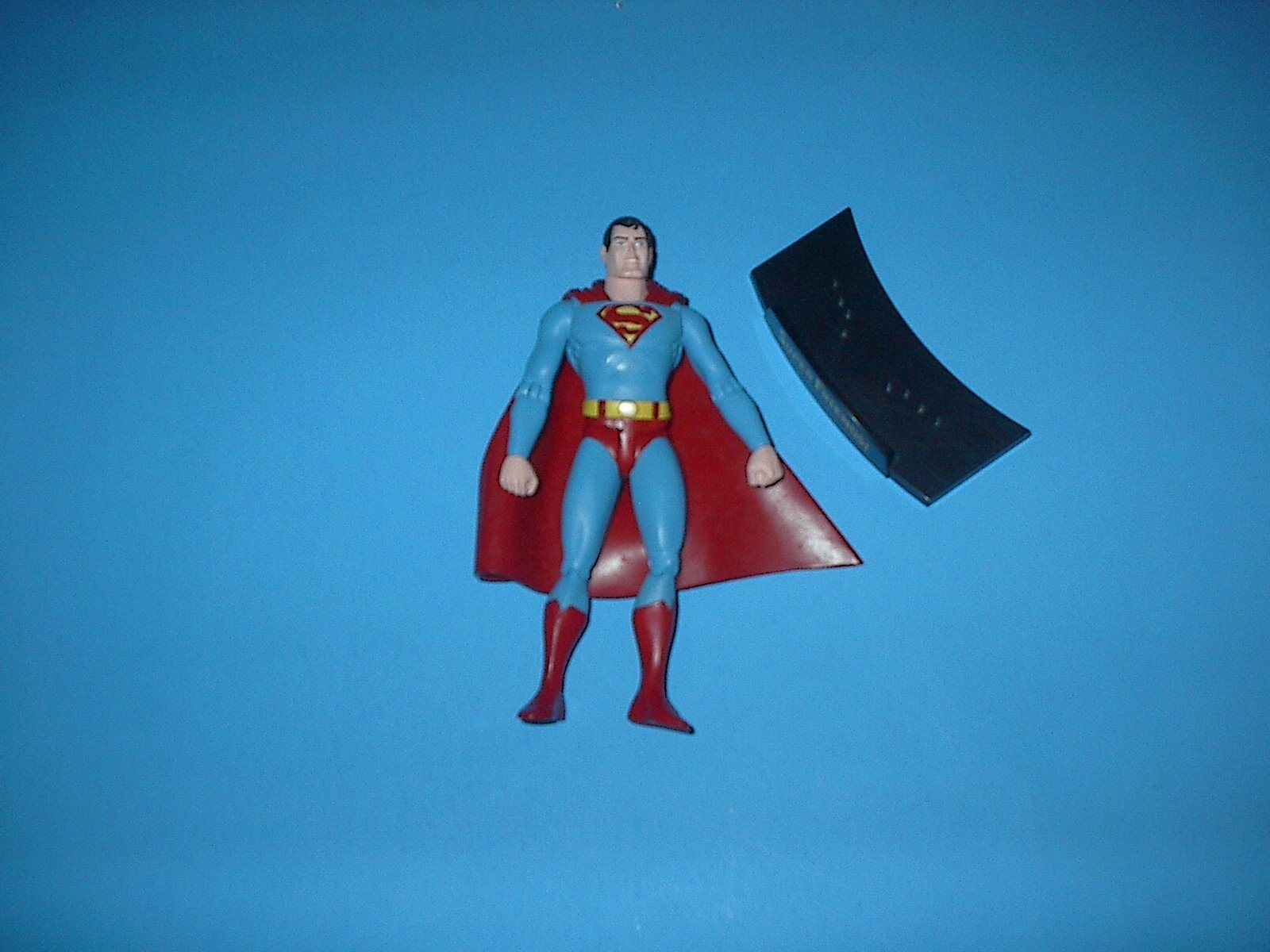 DC DIRECT SUPER-FRIENDS SUPERMAN WITH STAND 2003 LOOSE