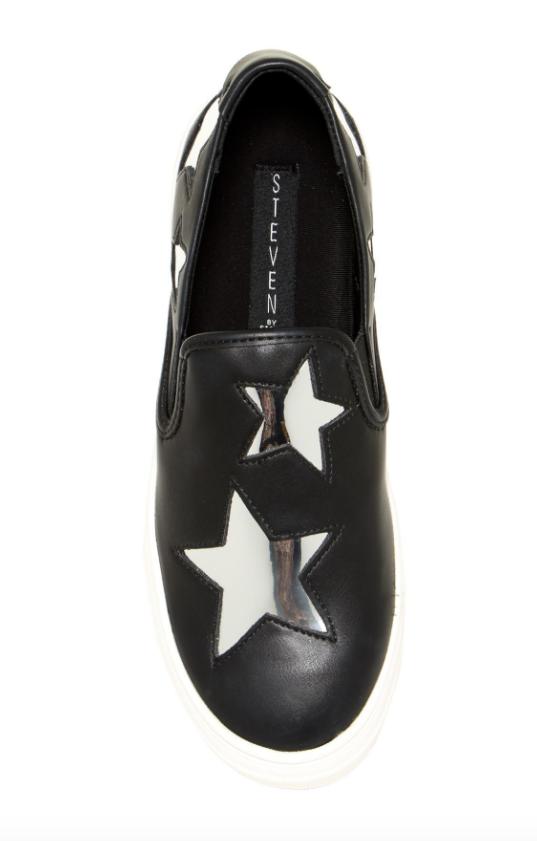 Steven By Steve Steve Steve Madden Women's Black Gaia Sneakers Sz 7M 4739 0505a8