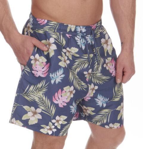Herren Cargo Bay Blumenaufdruck Mikrofaser Schwimm Shorts 3 Colours
