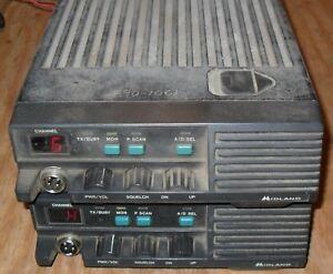 Midland 70-0351C Transceiver Ham 2 Way Radios Lot Of 2 Powers on!