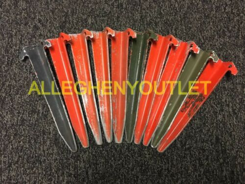 "Lot of 10 US Military 12/"" ALUMIMUM PUP TENT STAKES Shelter Half USGI VGC"