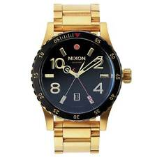 NEW Nixon Men's Diplomat SS Watch - Gold Black (A277-513)