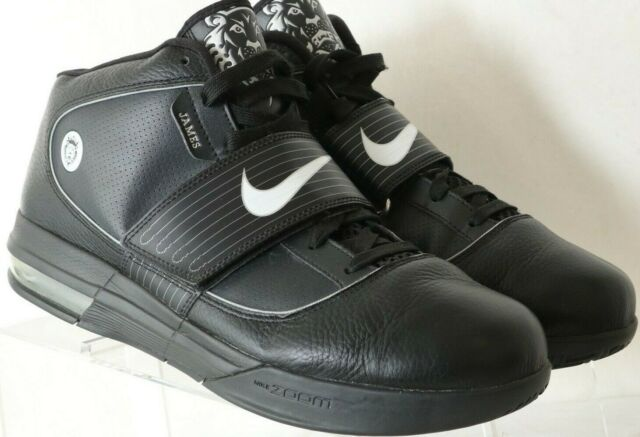 Nike Zoom Soldier IV Lebron James 407630-001 Black Witness High Top Men's US 13