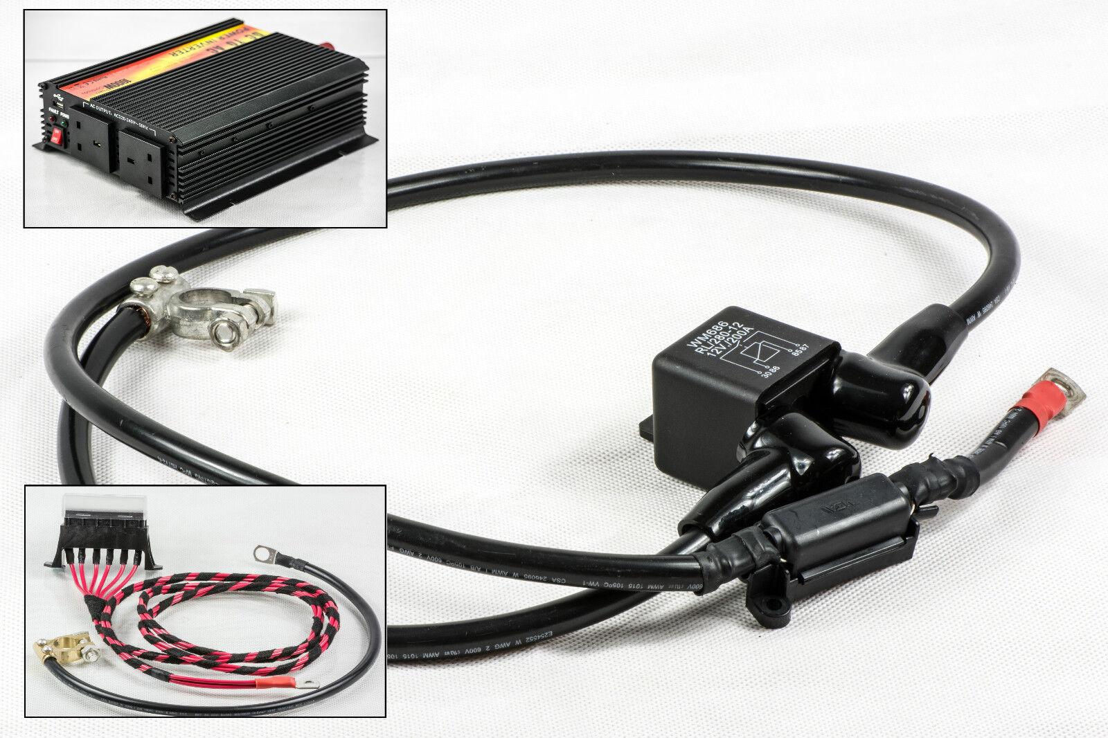 Sprinter/Crafter Charge De Fissure électrique électrique électrique Kit Câblage 200 A/Amp Relais 12v+ d90773
