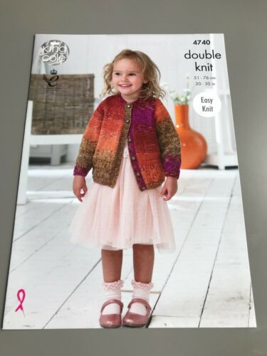 Top /& Cardigan Easy Knit Sizes 51-76 cm 4740 King Cole Knitting Pattern