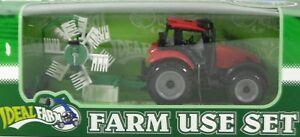 8138-1-Traktor-rot-mit-Heuwender