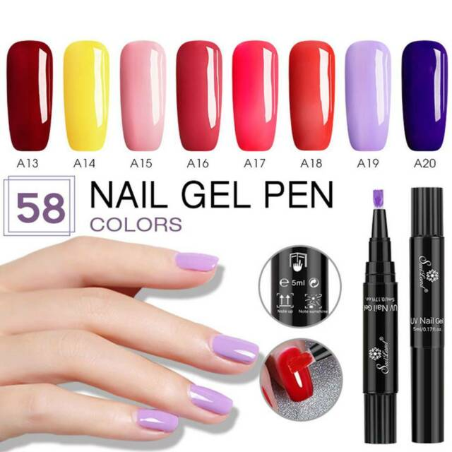 58 Colors Gel Nails Polish Pen 3 In 1 Gel Nails Polish Varnish Glitter One Step.
