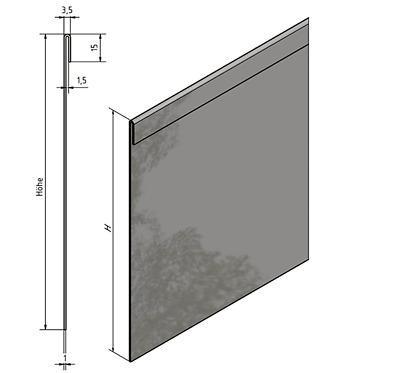 Sparset Rasenkante Falz Kiesleiste Besteinfassung Höhe160mm Edelstahl rostfrei.