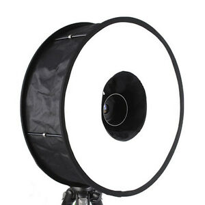 """New Collapsible Macro Ring Speedlight Flash Diffuser Round Softbox 18"""" Reflector"""