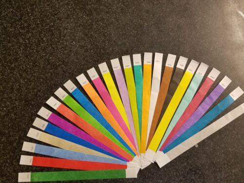 Papier Ereignis Bänder 250 1.9cm 10 Jede von 25 Farben Tyvek Armbänder