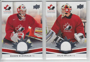 2014-15-UD-CANADA-JUNIORS-MASON-McDONALD-GAME-JERSEY-162-GAME-USED-Upper-Deck