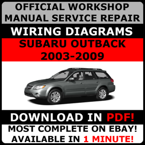 official workshop service repair manual subaru outback 2003 2009 rh ebay co uk 2009 subaru outback owners manual Subaru Outback Ski Hippie