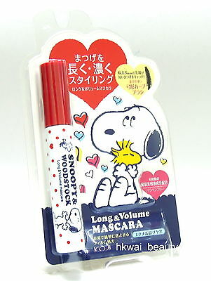 Koji Japan x Snoopy & Woodstock Long & Volume Mascara Rich Black 1 pcs