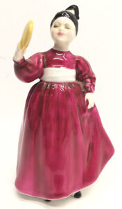 "Royal Doulton ""Vanity"" Vintage Figurine Girl with Mirror HN 2475 Bone China"