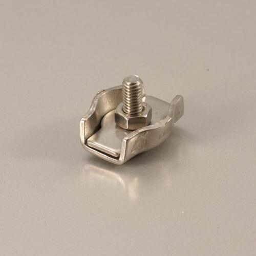 2 St Simplexklemmen Drahtseilklemme Edelstahl für versch Drahtseildurchmesser