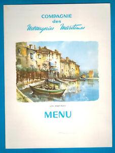 1968- Menu à Bord 1ère Classe- Compagnie Maritime- Les Martigues - Jean..laborde N7l1dcjw-07220414-890842359