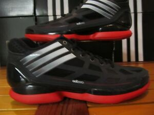 NEW Adidas AdiZero Crazy Light Lo Black Red 13 G49697 Chicago Bulls ... 5b1ed14e2c
