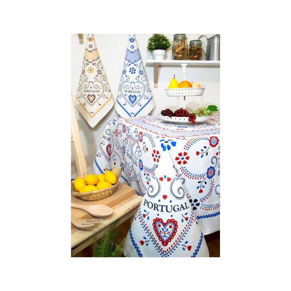 Limol 100% coton Viana Heart Nappe MADE IN PORTUGAL-différentes couleurs