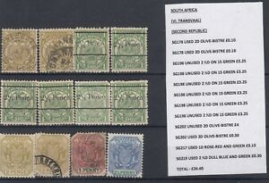 Transvaal-Collection-of-12-Mint-VFU-J1568