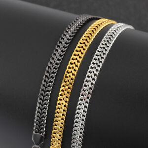Luxus Männer Edelstahl Kette Armband Cuban Curb Link Hip Hop Schmuck YUXUI