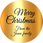 PERSONALISED CHRISTMAS METALLIC GOLD STICKERS XMAS NAME LABELS ~  4 SIZES