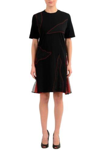 Camicia Corta Nero Manica Donna Usa Versace Vestito Versus Extw45IqY