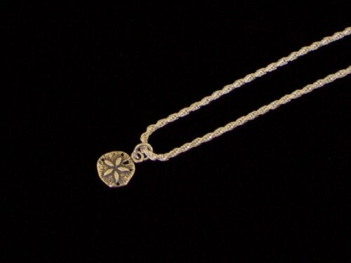 """New 925 Sterling Silver Adjustable Rope Chain Anklet 10/""""-12/"""" Sand Dollar Charm"""