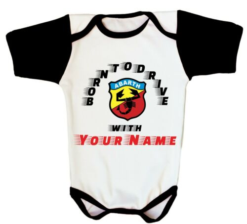 Newborn Fiat 500 Abarth Baby Custom One Piece Racing Romper Kids Clothes Infant