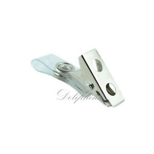 4d586c958e1 Wholesale office supplies Plastic ID Card Name Tag Holder Badge hook ...