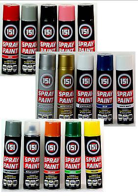 New Spray Paint Can Gloss Matt Varnish Primer Metallic DIY Multi-Purpose Aerosol