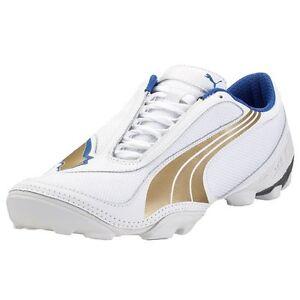 bb7de8fca84b Puma Men s V1 08 IV FOOTBALL Boots White Team Gold Team Power Blue ...