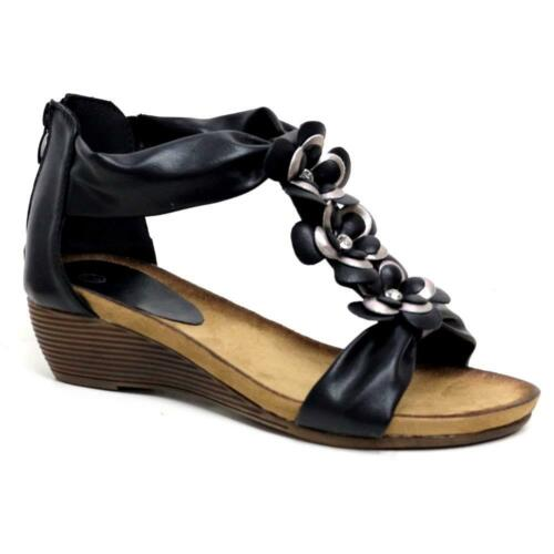 4ede5cf22064 1 of 12 Ladies Wedge Sandals Womens Heels New Fancy Summer Dress Party  Beach Shoes Size