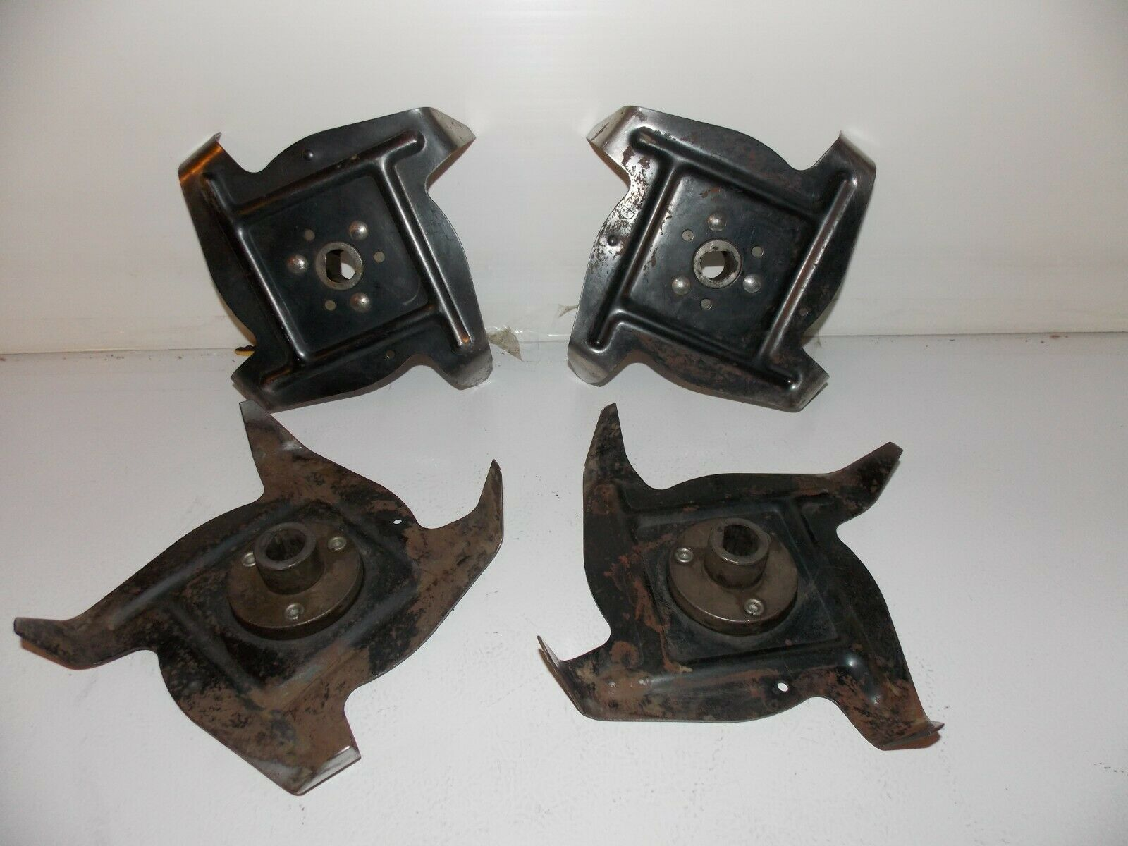 Used lot of 4 Garden Tiller 4 tine Blades (2) A and (2) D parts gas electric