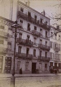 Lyon Immeubles Photo d'un amateur éclairé Vintage citrate ca 1900