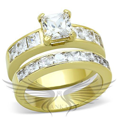 Brilliant Princess Cut Cubic Zircon CZ AAA Wedding Set 5 6 7 8 9 10 11 TK61206G