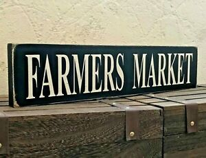 Farmers-Market-Sign-Large-Rustic-Wooden-Home-Kitchen-Vintage-Free-Standing-Gift