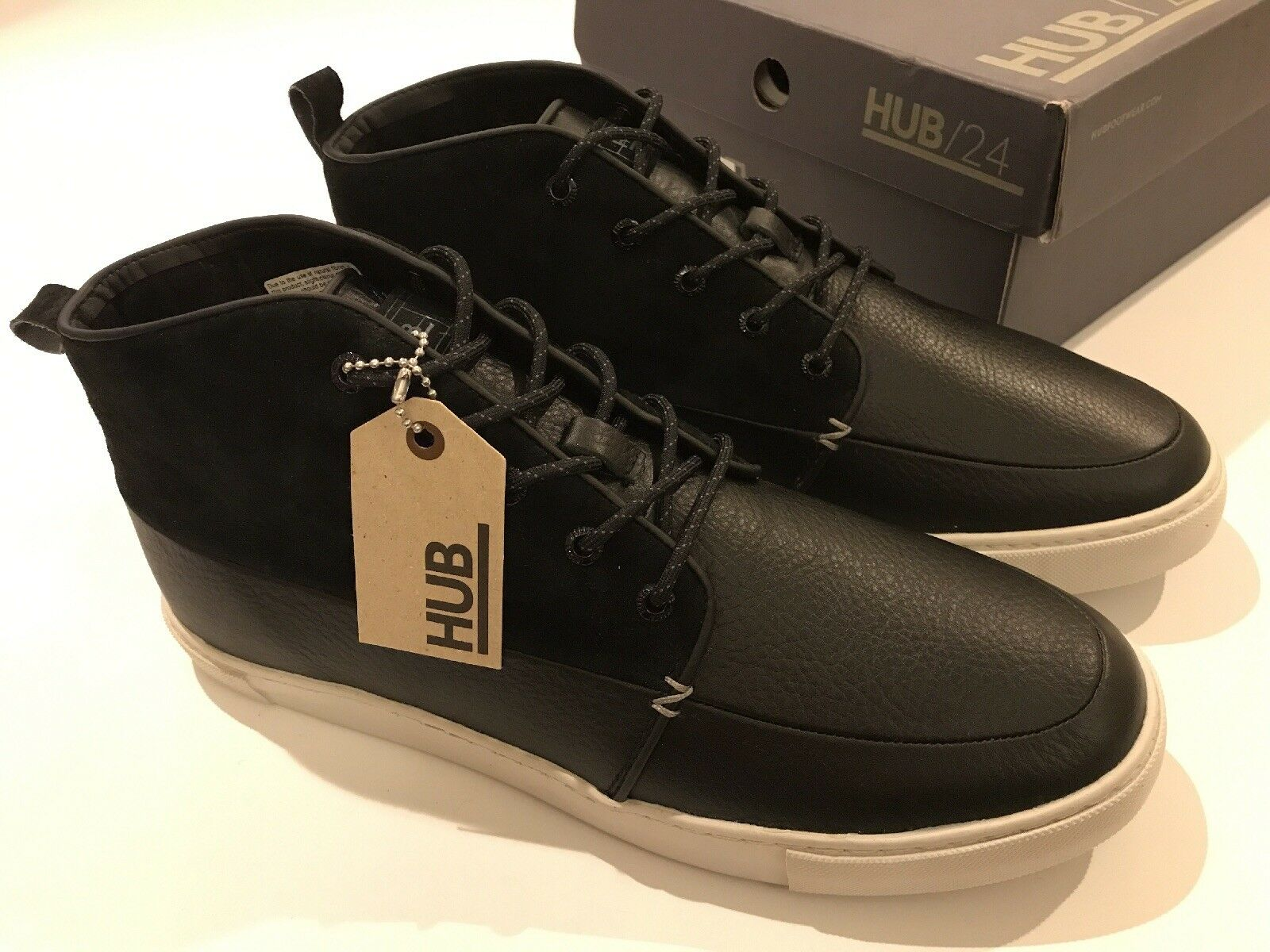 HUB Camden L37 Men's High Sneakers Schuhes 10, Trainers UK Größe 10, Schuhes EU 44, US 11 New c7632c