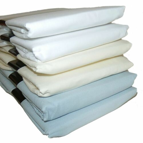 2 x Easycare Flat Cotbed Cot Travel Cot Sheets Polyester Cotton 200 x 178cm