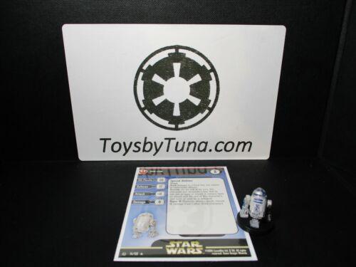 Star Wars Miniatures R2-D2 Rebel Storm RS w// Card mini RPG Legion
