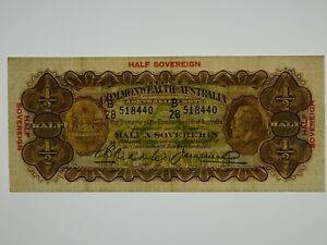 1928-Half-Sovereign-Riddle-Heathershaw-Banknote-in-Very-Fine-Condition