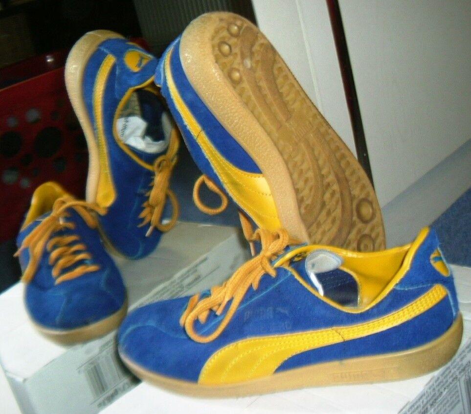 Puma Hallenschuhe Sneaker Blau Bird, Gr. 5,5 = 38,5; Vintage Sammlerstück