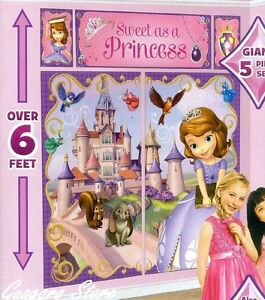 SOFIA THE FIRST SCENE SETTER Birthday PRINCESS Wall Decor Party ...