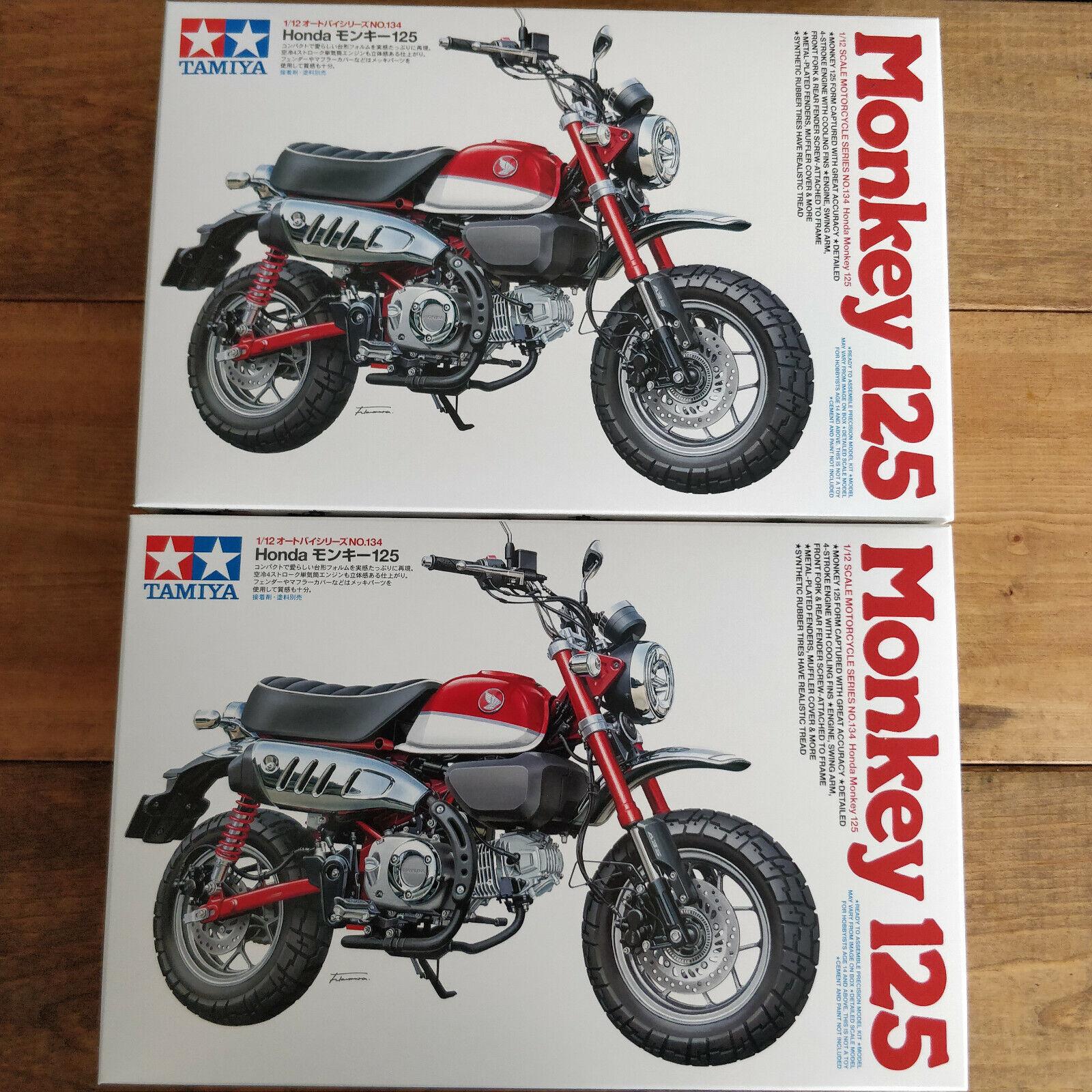 TAMIYA 1  12 Honda Monkey 125 cykel Plastic modellllerlerl Montering Kit 2set