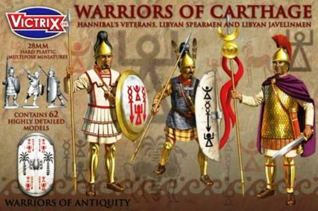 Toy soldiers 28mm WARRIORS OF CARTHAGE- VICTRIX