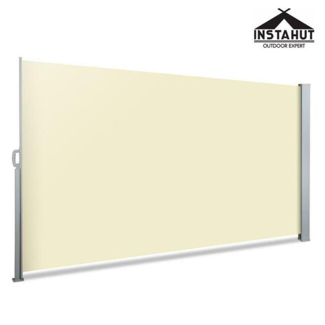 Instahut Side Awning Sun Shade Outdoor Blinds Retractable Screen Shade 2X3M