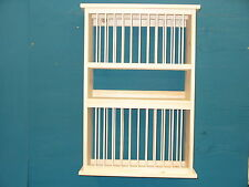 DOUBLE DELUXE WOOD PLATE dish cup cabinet RACK, SHELF, KITCHEN organizer