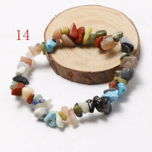 Quartz-Crystal-Beads-Wristband-Handmade-Natural-Stone-Beaded-Bracelet-Gravel