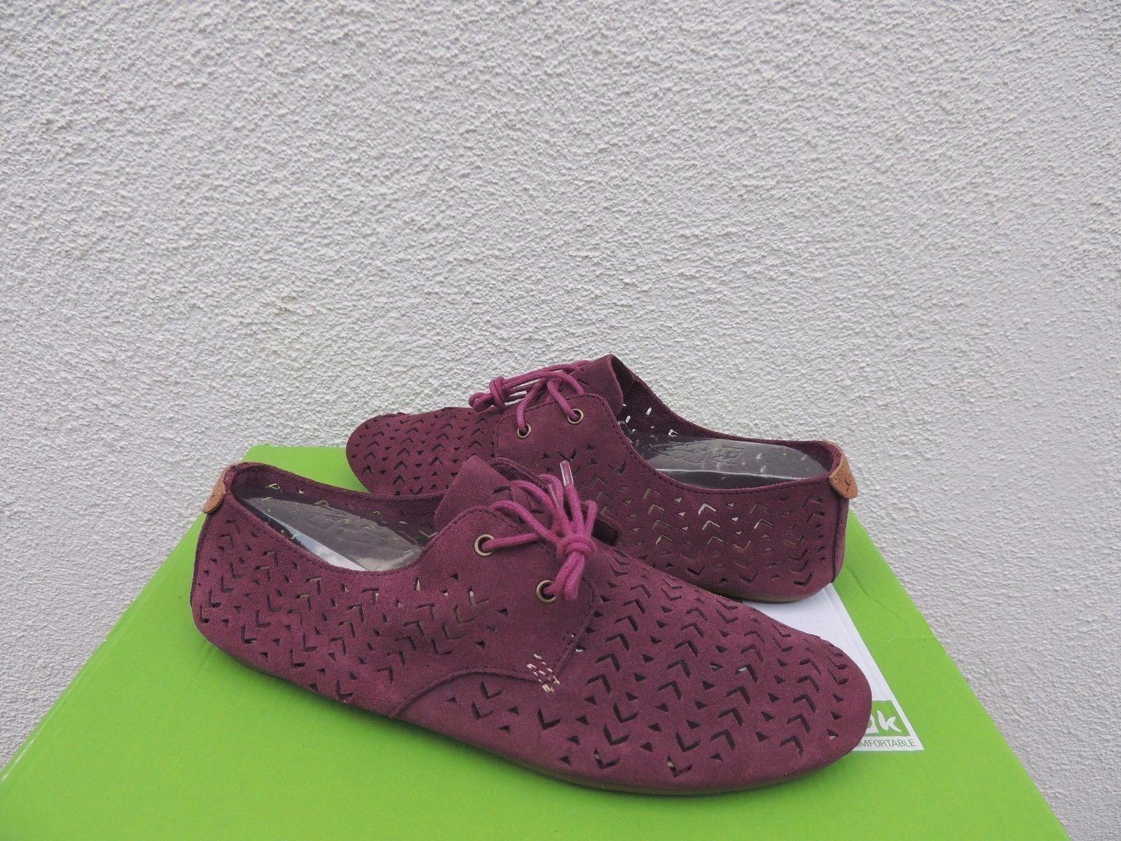 SANUK DUSTY BOYSENBERRY SUEDE BIANCA PERF BALLET FLATS Schuhe, NWT US 7/ EUR 38 NWT Schuhe, f04b46